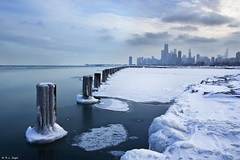 Chicago in January (rjseg1) Tags: snow chicago ice beach skyline lakemichigan shore piling segal impressedbeauty focuslegacy rjseg1 reflectyourworld