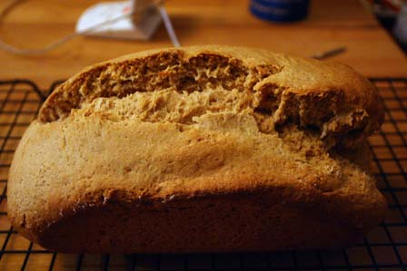 Peanut Butter Bread, cracked