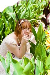 (yeshayden) Tags: flowers portrait girl glasses pearls lolita parasol bow canna headband royalbotanicgardens isikenai