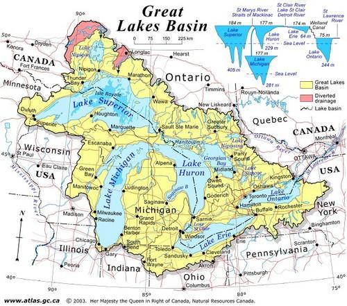 Michigan Canada Map