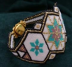 7ea145f81fa Western Starburst - Hand Beaded Bracelet (Forbes Farm) Tags  glass  turquoise jewelry bracelet