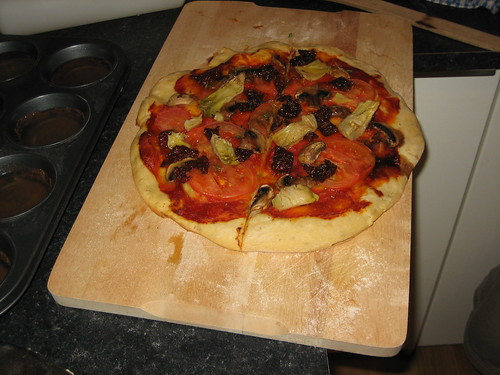 pizza on homemade dough