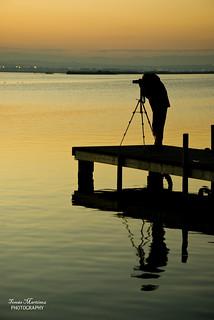 Silueta de un fotógrafo