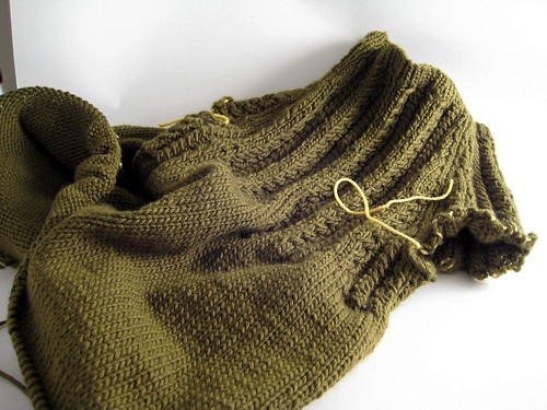 Wheat-ear re-mix at the waist shaping