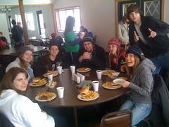 Katie, Rodney, Tiff, Jess, Jason Lunch