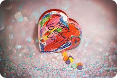 Happy Valentine's Day! (jami_lee) Tags: texture love glitter hearts rainbow bokeh sparkle sweethearts 214 happyvalentinesday
