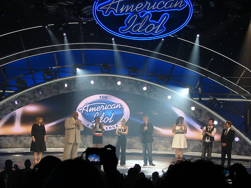 All seven Idols on stage together for the first time ever. Photo by Mark Goldhaber.