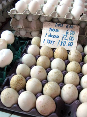 duck eggs at the market