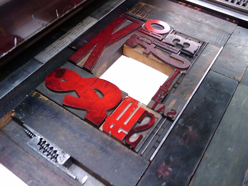 3298727407 8814b4fc93 Letterpress Class, Part 3: I Printed Something!