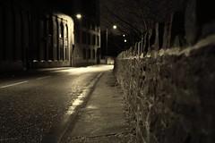 (andrewlee1967) Tags: road uk england blackandwhite bw mill wet rain wall sepia shadows britain pavement spooky sidewalk gb damp eery filmnoir ef35mmf2 andrewlee 50d tameside mywinners dukinfield canon50d harry1967