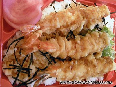 Ebi tempura bento lunch