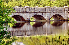 Is Life Real Or Just An Illusion? (Roger's Photos59) Tags: bridge reflection water stone arch arches