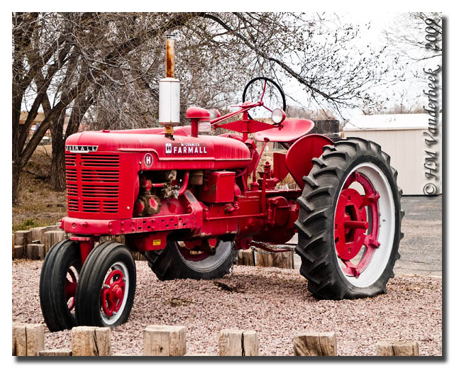 Big Red Tractor Front View
