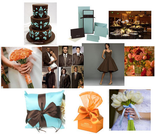 Tiffany blue and brown wedding anyone else
