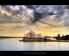 Stormy Sydney Opera House :: HDR (Artie | Photography :: I'm a lazy boy :)) Tags: cloud storm wet rain weather architecture photoshop canon opera view angle cs2 cloudy crowd wide sydney dramatic overcast australia stormy handheld newsouthwales therock operahouse 1020mm hdr sydneyoperahouse artie 3xp sigmalens photomatix tonemapping tonemap 400d rebelxti
