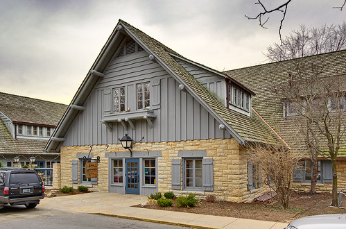 Pere Marquette State Park, in Grafton, Illinois, USA - lodge exterior