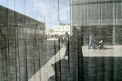 Skrholmen centrum (Ola Jacobsen) Tags: sky urban reflection me window corner lumix sweden stockholm panasonic ola skrholmen lx3 panasoniclumixdmclx3 skhlm