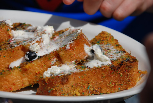Cap'n Crunch french toast at Mad Donna's