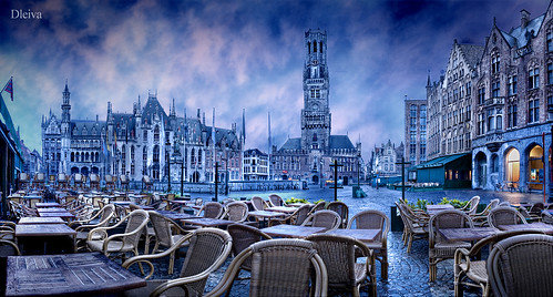 Markt (Brugge Belgium) by dleiva.