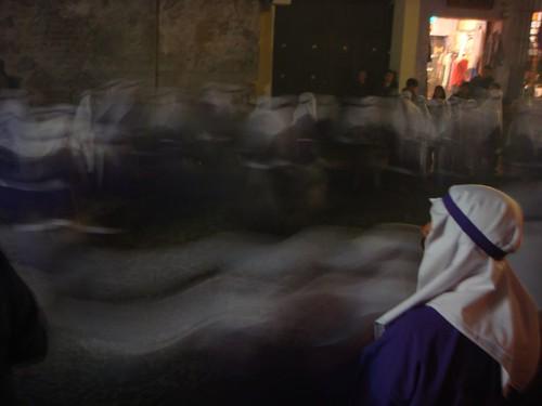 Semana Santa processions in Antigua, Guatemala. Spooky, ehh?