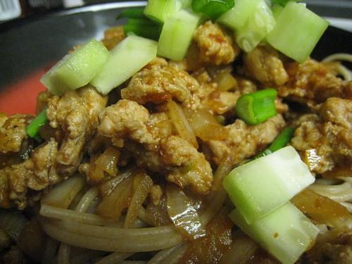 Sizzling Pork Noodles