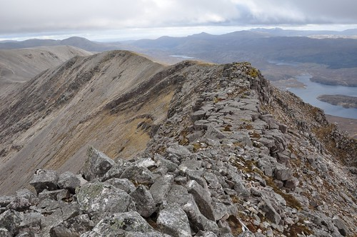 Looking south along Arkle's ridge