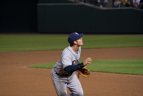 Longoria going for the catch