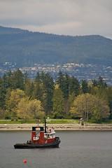 Red Tug Boat (design_ev) Tags: park vancouver stanley tugboat