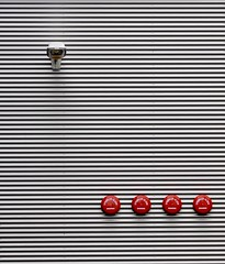 alarm lamp (Heidelknips) Tags: red ikea lamp lines nikon sprinkler minimalism walldorf 105mm d90
