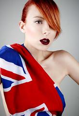 English Rose (artemisia.artex) Tags: portrait london english girl fashion self autoportrait flag englishrose gingerhair