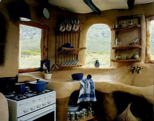 South African Cob Kitchen
