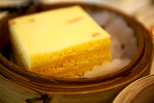 Steamed egg custard layer cake
