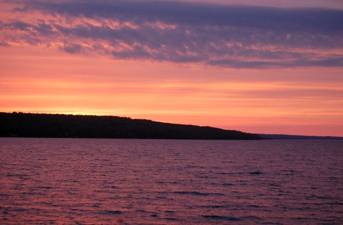 Sunset over Cayuga
