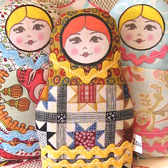 Russian Matryoshka Art / Lavender Doll (Zouzou Design) Tags: uk woman cute girl plush artdoll blondehair redhair russiannestingdoll matryoshkadoll quiltpattern lavendersachet