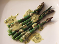 Asparagus with Lemon Anchovy Parsley Dressing