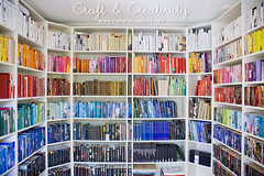 New library (Craft & Creativity) Tags: color colour ikea colors book design rainbow colours interior library books shelf decorating billy bookcase shelves organize organizing cordinated cordintated