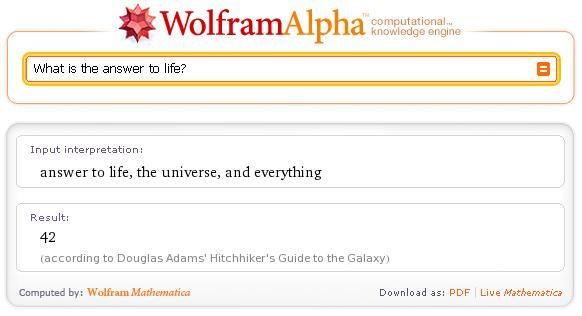 wolfram alpha easter egg2
