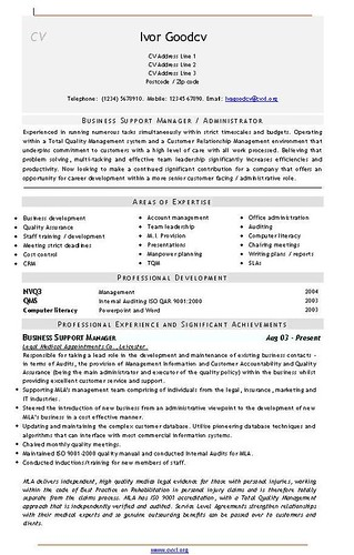 Medical administrator business support manager cv template a medical administrator business support manager cv template flashek Gallery