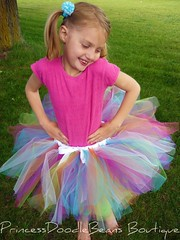 party time (PrincessDoodleBeans Boutique) Tags: light party color girl smile pose outside dance model child play natural handmade michigan boutique punch etsy pigtails custom tulle tutu princessdoodlebeans