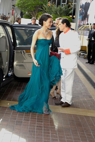 Shu Qi in Sergio Rossi shoes