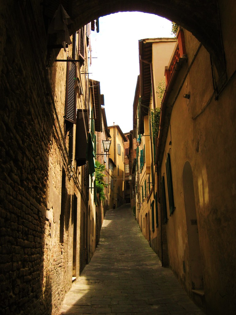 Narrow street of Siena