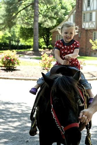 big girl on a pony