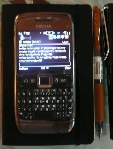My Nokia E71,moleskine notebook by Adibi