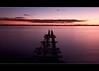 Purple Sunset (Debbie from Brisbane) Tags: longexposure sunset sky sun water clouds pier nikon cleveland australia brisbane qld winnerbc