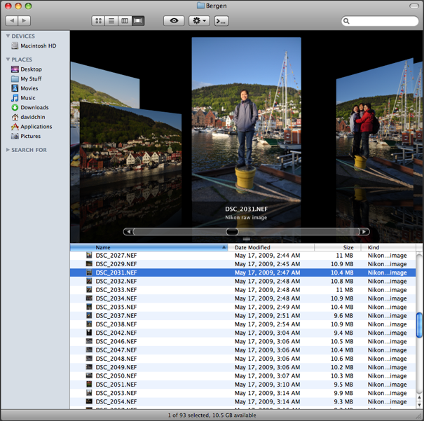Nikon D5000 RAW files in the Finder after Digital Camera RAW Compatibility Update 2.6