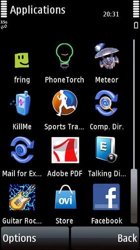 Ovi Store on Nokia 5800 XM