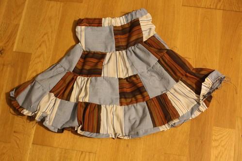 patchwork skirt dereito
