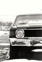 Muscle car (Dj) Tags: winter usa snow car blackwhite minolta cincinnati chevelle calender chevy contraste neige oldie hivers argentic xgm calandre musselcar