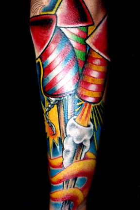 Firework Tattoo - Arm