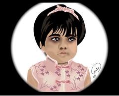 بورتريه (zoom_artbrush) Tags: girls portrait art girl kids illustration graphic drawings arabic draw qatar بنت بورتريه أطفال رسم جرافيك